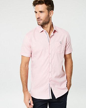 Tonal Cotton Piqué Slim Fit Shirt
