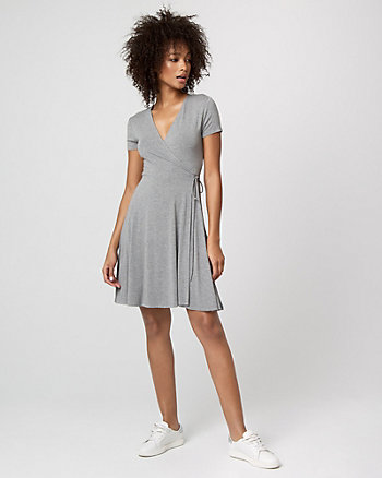 Jersey Knit Wrap-Like Dress