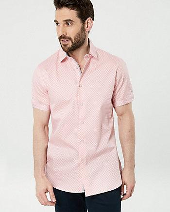 Chemise à motif en satinette de coton