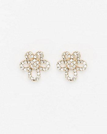 Floral Gem Stud Earrings