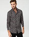 Floral Print Cotton Regular Fit Shirt