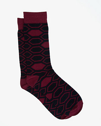 Geo Print Cotton Blend Socks