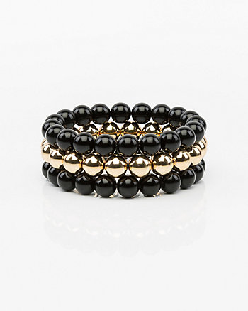 Set of Three Stretch Ball Bracelets