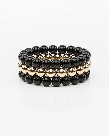 Set of Three Stretch Ball Bracelets