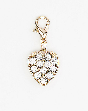 Heart-Shaped Bracelet Charm