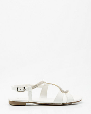 Jewel Embellished Asymmetrical Sandal