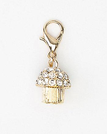 Cupcake-Shaped Bracelet Charm