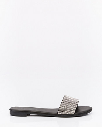 Jewel Embellished Open Toe Slide