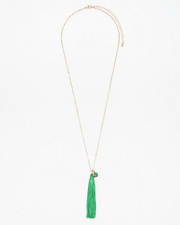 Tassel & Stone Necklace