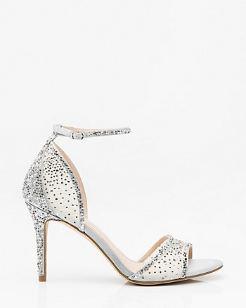 Jewel Embellished Ankle Strap Sandal