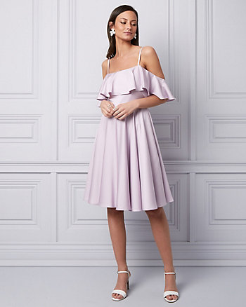 Satin Cold Shoulder Dress