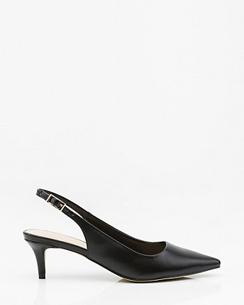 Pointy Toe Kitten Heel Slingback