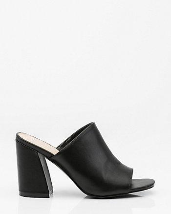 Open Toe Angled Heel Mule
