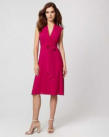 Crêpe de Chine Midi Dress
