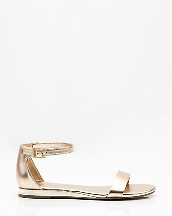 Electroplated Ankle Strap Sandal