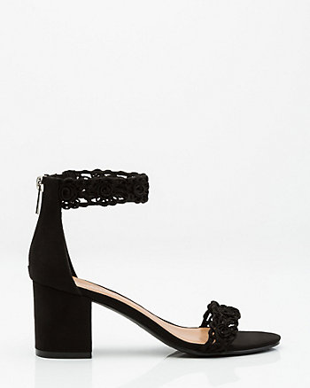 Scalloped Ankle Strap Sandal