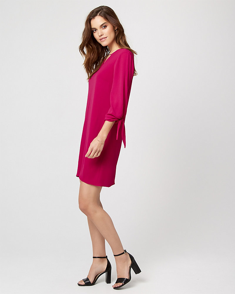 8796deb52496 Crêpe de Chine V-Neck Tunic Dress
