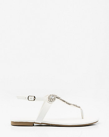 Jewel Embellished Thong Sandal