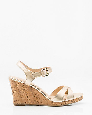 Leather Cork Wedge