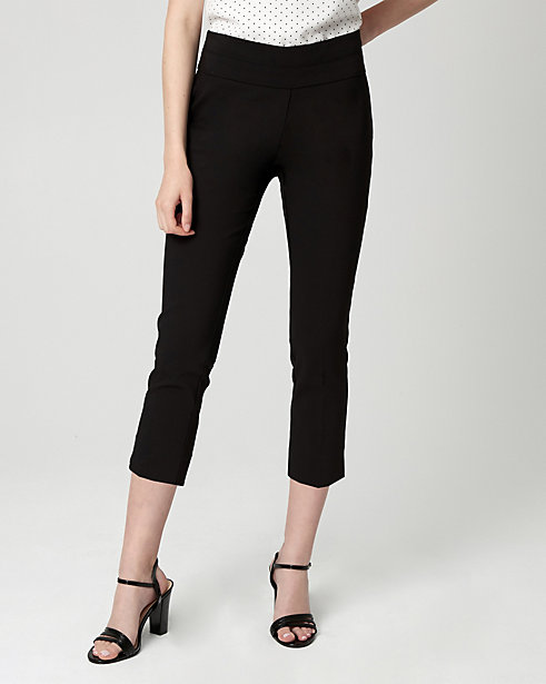 Cotton Blend Slim Leg Crop Pant STYLE: 363706