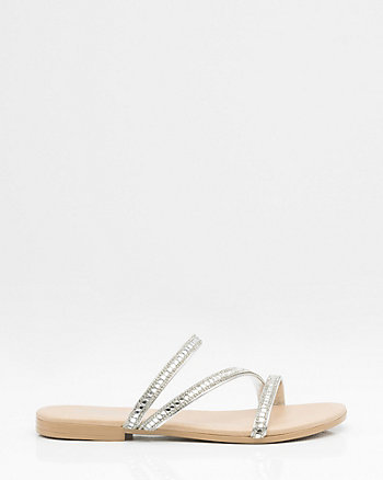 Italian-Made Metallic Strappy Sandal