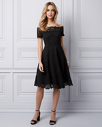Lace Off-the-Shoulder Dress