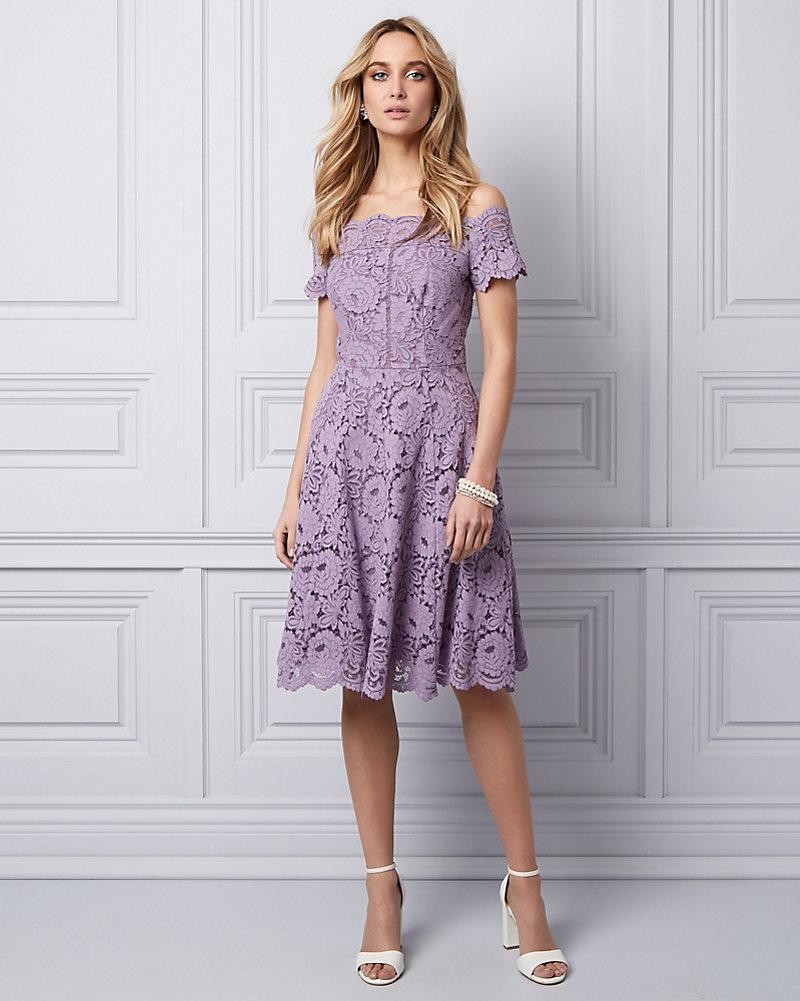 40c038048e5574 Lace Off-the-Shoulder Dress