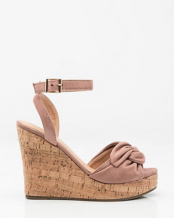 Knotted Cork Wedge Sandal