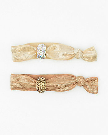 Set of Two Gem Hair Ties
