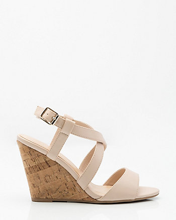 Criss-Cross Wedge Sandal