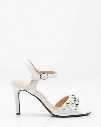 Sandale à bout ouvert et fausses perles