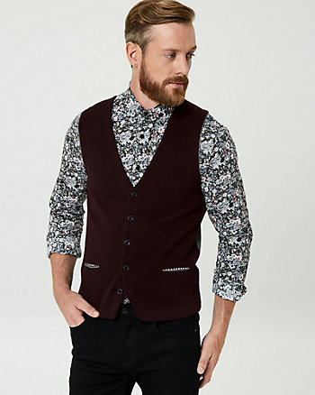 Two-Tone Knit City Fit Vest