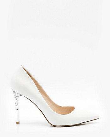 Jewel Embellished Pointy Toe Pump