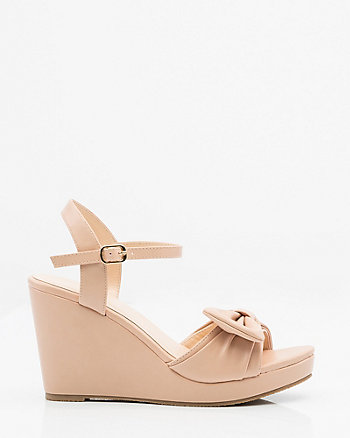 Bow Wedge Sandal