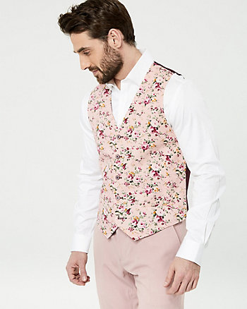 Floral Print Cotton City Fit Vest