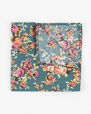Floral Print Cotton Pocket Square