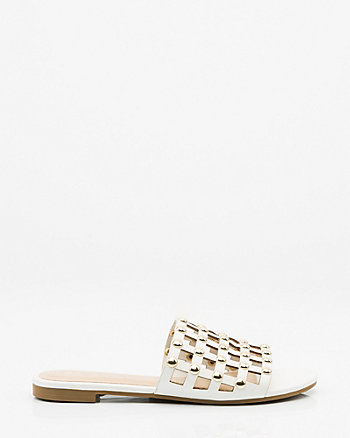Studded Laser Cut Slide Sandal