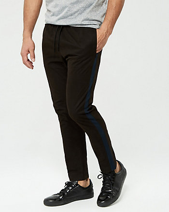 Side Stripe Cotton Blend Track Pant