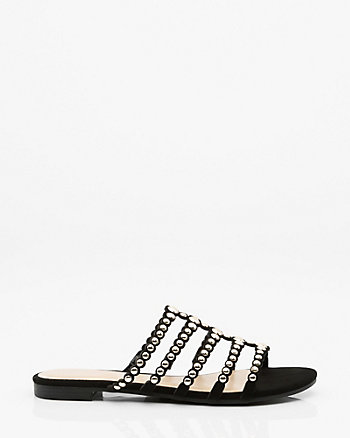Studded Strappy Slide Sandal