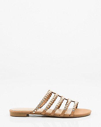 Studded Strappy Slide Sandal