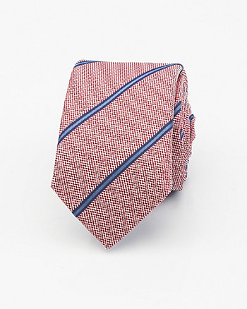 Italian-Made Stripe Silk Tie