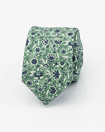 Italian-Made Floral Print Silk Blend Tie