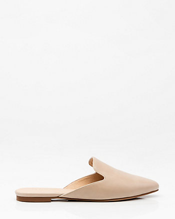 Almond Toe Loafer Mule