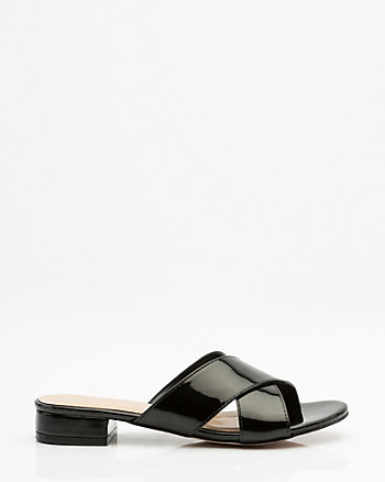 Patent Criss-Cross Slide Sandal