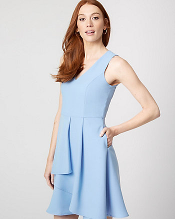 Crêpe V-Neck Dress
