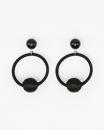 Ball Drop Hoop Earrings