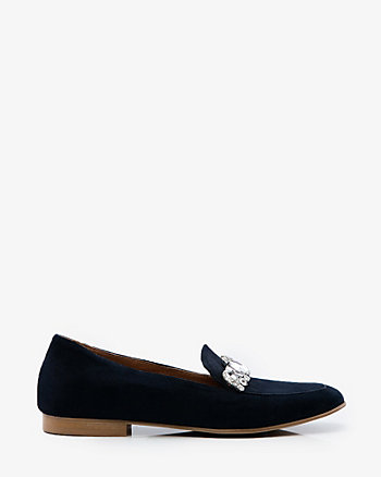 Italian-Made Embellished Suede Loafer