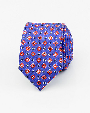 French-Made Cotton & Silk Blend Tie