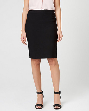 Stretch Satin Pencil Skirt