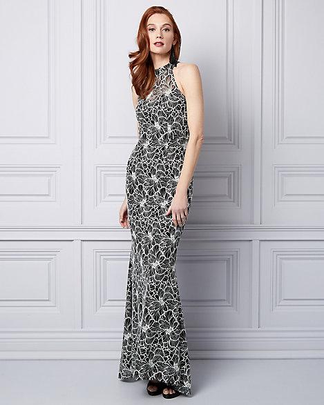 Lace Halter Gown | LE CHÂTEAU
